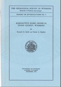 Radioactive Fossil Bones in Teton County, Wyoming (1954)