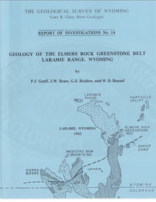 Geology of the Elmers Rock Greenstone Belt, Laramie Range, Wyoming (1982)