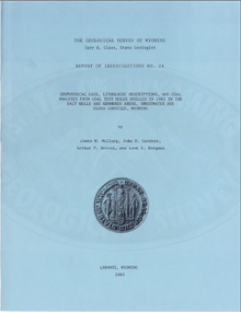 Geophysical Logs, Lithologic Descriptions, and Coal Analyses from Coal Test Holes Drilled in 1982 in the Salt Wells and Kemmerer Areas, Sweetwater and Uinta Counties, Wyoming (1983)