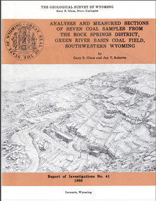 Analyses and Measured Sections of Seven Coal Samples from the Rock Springs District, Green River Basin Coal Field, Southwestern Wyoming (1988)