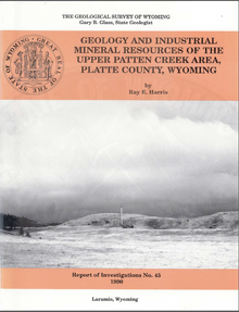 Geology and Industrial Mineral Resources of the Upper Patten Creek Area, Platte County, Wyoming (1990)