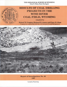 Results of Coal Drilling Projects in the Wind River Coal Field, Wyoming (1990)