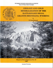 Geology and Gold Mineralization of the Rattlesnake Hills, Granite Mountains, Wyoming (1996)