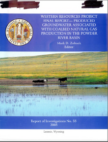 Western Resources Project Final Report: Produced Groundwater Associated with Coalbed Natural Gas Production in the Powder River Basin (2005)