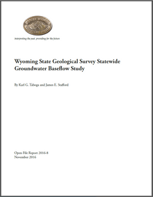 Wyoming State Geological Survey Statewide Groundwater Baseflow Study (2016)