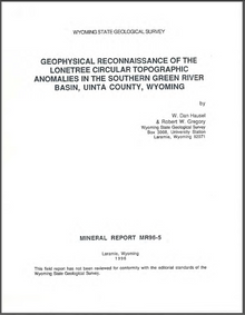 Geophysical Reconnaissance of the Lonetree Circular Topographic Anomalies in the Southern Green River Basin, Uinta County, Wyoming (1996)
