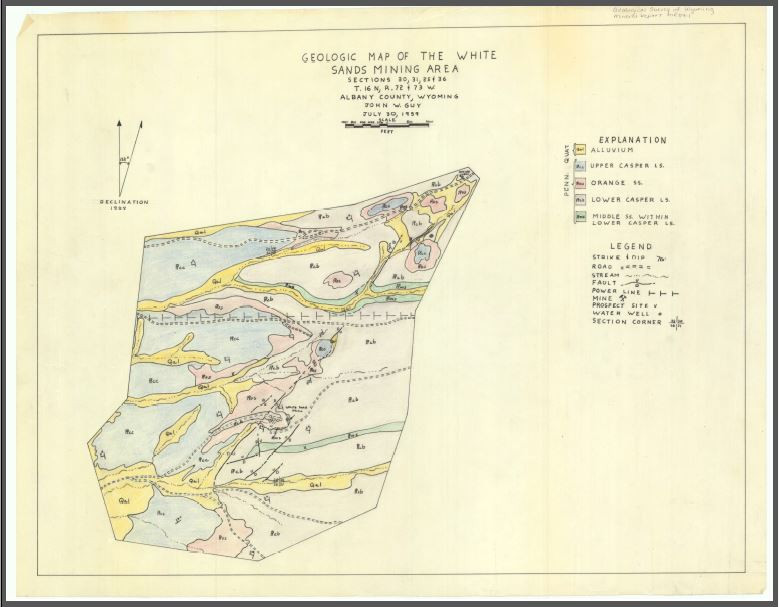 Geologic Geologic Map of the White Sands Mining Area: Sections 30