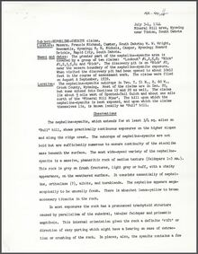 "Nepheline-Syenite Claims, ""Bull"" Hill, Crook County, Wyoming (1944)"
