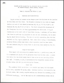 Report on the Occurrence of Phosphate in the Vicinity of Nugget Station, Uinta County, Wyoming (1939)