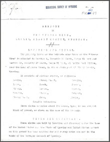 A Report on the Strong Mine, Leslie, Albany County, Wyoming (1907)
