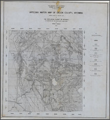 Artesian Water Map of Crook County, Wyoming (1937)