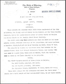Report on the Home Placers near Keystone, Albany County, Wyoming (1906)