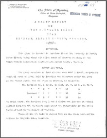 A Brief Report on the Portland Group near Sherman, Albany County, Wyoming (1906)