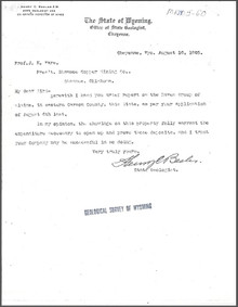 A Brief Report on the Raven Group of Claims, Carbon County, Wyoming (1905)