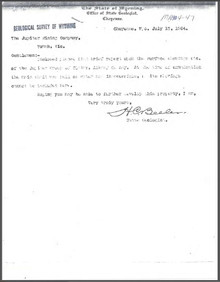 A Brief Report on the Jupiter Group of Claims, Albany County, Wyoming (1904)