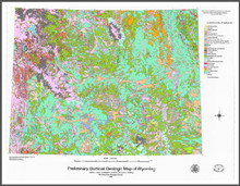 Preliminary Surficial Geologic Map of Wyoming (1998)