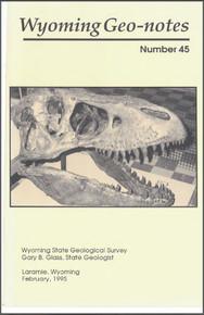 Wyoming Geo-Notes—Number 45 (1995)