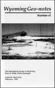 Wyoming Geo-Notes—Number 41 (1993)