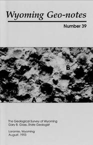 Wyoming Geo-Notes—Number 39 (1993)