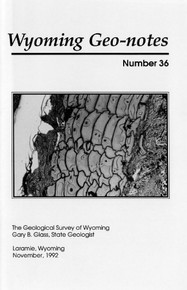 Wyoming Geo-Notes—Number 36 (1992)