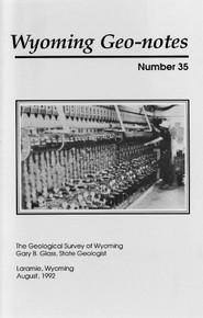 Wyoming Geo-Notes—Number 35 (1992)