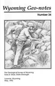 Wyoming Geo-Notes—Number 34 (1992)
