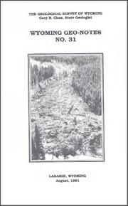 Wyoming Geo-Notes—Number 31 (1991)