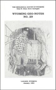 Wyoming Geo-Notes—Number 29 (1991)