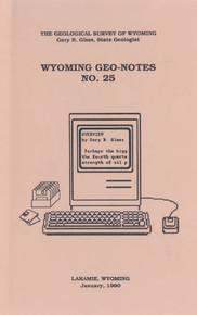 Wyoming Geo-Notes—Number 25 (1990)