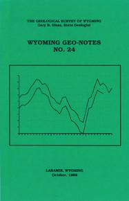 Wyoming Geo-Notes—Number 24 (1989)