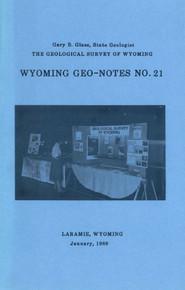 Wyoming Geo-Notes—Number 21 (1989)