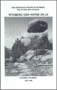 Wyoming Geo-Notes—Number 19 (1988)