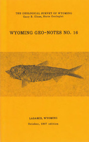 Wyoming Geo-Notes—Number 16 (1987)