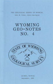 Wyoming Geo-Notes—Number 4 (1984)