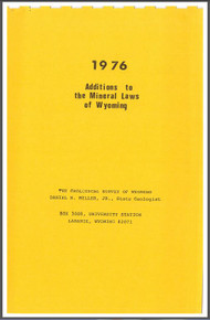 1976 Additions to the Mineral Laws of Wyoming (1976)