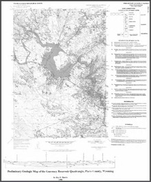 Preliminary Geologic Map of the Guernsey Reservoir Quadrangle, Platte County, Wyoming (1998)
