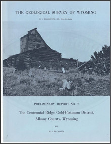 The Centennial Ridge Gold-Platinum District, Albany County, Wyoming (1968)