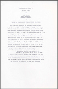 Review of Conditions in the Rock Creek Oil Field (1920)