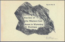 Review of the Western Coal Boom in Wyoming & Montana (1975)