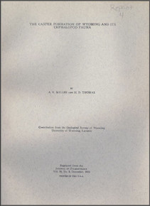 The Casper Formation (Pennsylvanian) of Wyoming and its Cephalopod Fauna (1936)