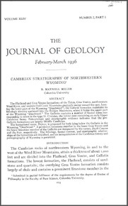 Cambrian Stratigraphy of Northwestern Wyoming (1936)