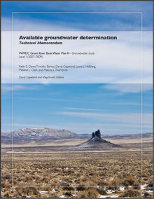 Available Groundwater Determination: WWDC Green River Basin Water Plan II, Groundwater Study Level I (2007-2009) (2010)