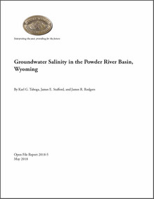 Groundwater Salinity in the Powder River Basin, Wyoming (2018)