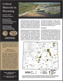 Critical Minerals in Wyoming—Summary Report (2019)