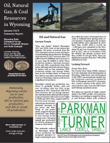 Oil, Natural Gas, & Coal Resources in Wyoming—Summary Report (2019)