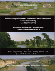 Powder/Tongue/Northeast river basins water plan update, groundwater study, level I (2002–2016)— Available groundwater determination (2019)