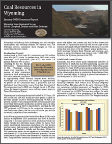 Coal resources in Wyoming January 2020 summary report (2020)