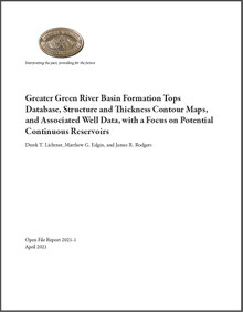 Greater Green River Basin Formation Tops Database, Structure and Thickness Contour Maps, and Associated Well Data, with a Focus on Potential Continuous Reservoirs (2021)