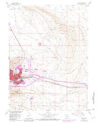 7.5' Topo Map of the Rawlins, WY Quadrangle