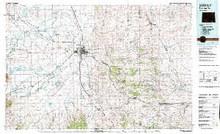 USGS 30' x 60' Metric Topographic Map of Rattlesnake Hills, WY Quadrangle